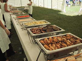 Large corporate event catering buffet