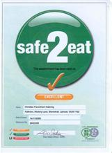 safe to eat certificate